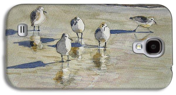 Sandpipers 2 Watercolor 5-13-12 Julianne Felton Galaxy S4 Case by Julianne Felton