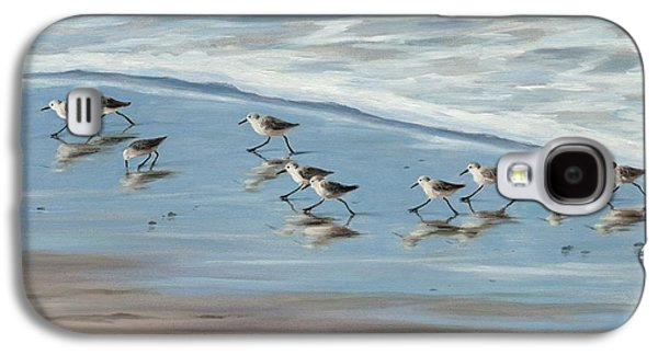 Sandpiper Galaxy S4 Case - Sandpipers by Tina Obrien
