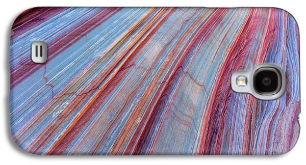 Sandstone Striping In The Vermillion Galaxy S4 Case by Chuck Haney