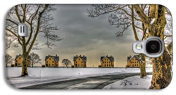 Sandy Hook Officers Row In Snow Galaxy S4 Case by Geraldine Scull