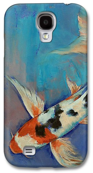 Sanke Butterfly Koi Galaxy S4 Case by Michael Creese