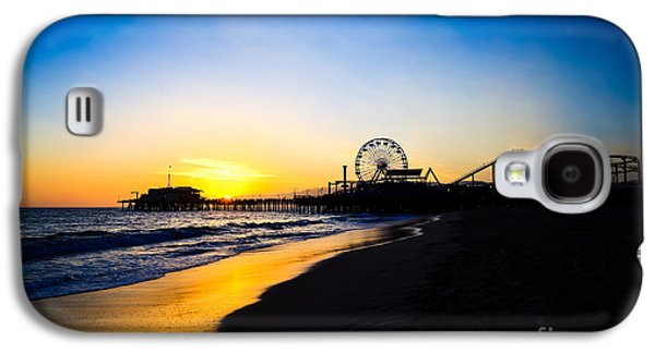 Santa Monica Pier Pacific Ocean Sunset Galaxy S4 Case by Paul Velgos