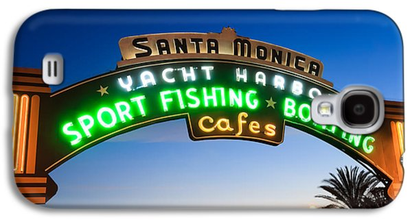 Santa Monica Pier Sign Galaxy S4 Case by Paul Velgos