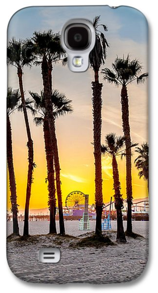 Santa Monica Sunset 2 Galaxy S4 Case by Az Jackson