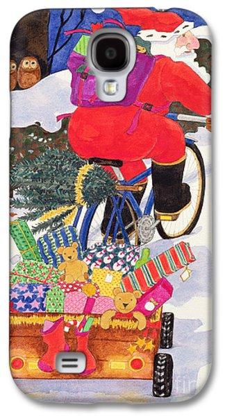 Santas Bike Galaxy S4 Case by Linda Benton