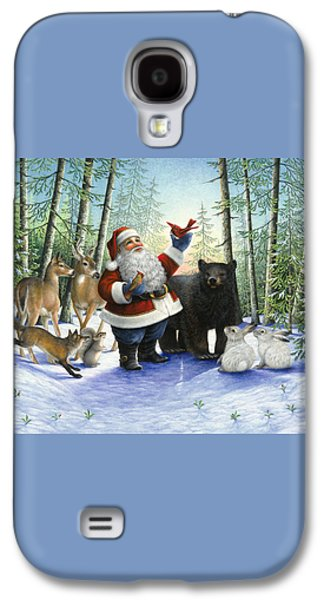 Santa's Christmas Morning Galaxy S4 Case by Lynn Bywaters