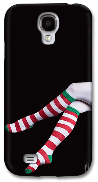 Santas Helper Legs Christmas Card Galaxy S4 Case