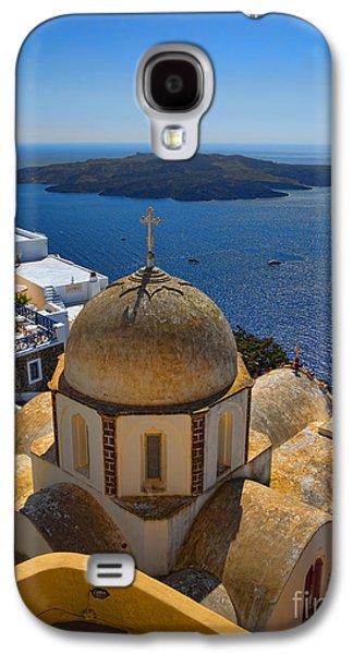 Santorini Caldera With Church And Thira Village Galaxy S4 Case