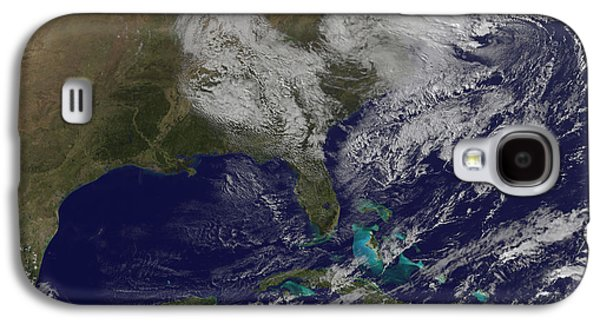 Satellite View Of A Noreaster Storm Galaxy S4 Case