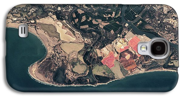 Satellite View Of Coastal Town In France Galaxy S4 Case