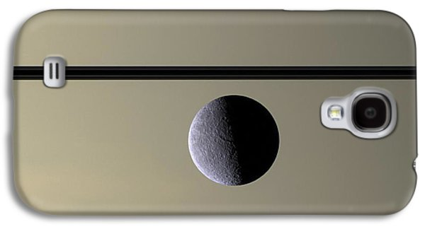 Saturn Rhea Contemporary Abstract Galaxy S4 Case by Adam Romanowicz