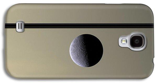 Saturn Rhea Contemporary Abstract Galaxy S4 Case