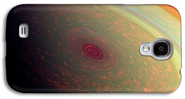 Saturn's North Polar Storm Galaxy S4 Case by Nasa