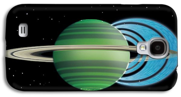 Saturn's Ring 'rain' Galaxy S4 Case by Nasa/jpl-caltech/space Science Institute/university Of Leicester