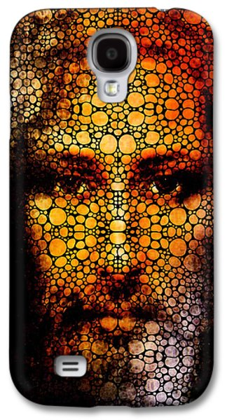 Savior - Stone Rock'd Jesus Art By Sharon Cummings Galaxy S4 Case by Sharon Cummings