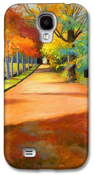 Sawmill Road Autumn Vermont Landscape Galaxy S4 Case by Catherine Twomey
