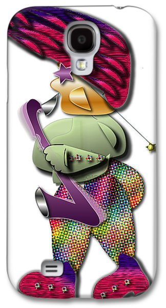 Galaxy S4 Case featuring the digital art Sax Man by Marvin Blaine