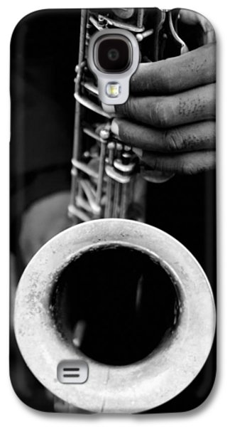 Galaxy S4 Case featuring the photograph Sax Player by Dave Beckerman