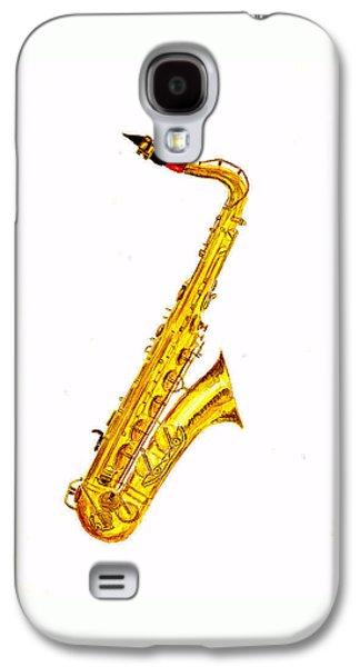 Saxophone Galaxy S4 Case - Saxophone by Michael Vigliotti
