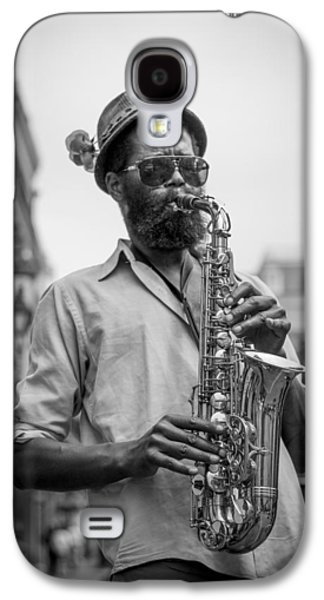 Saxophone Musician New Orleans Galaxy S4 Case by David Morefield