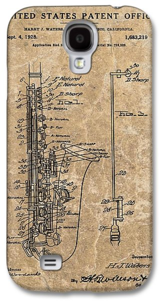 Saxophone Patent Design Illustration Galaxy S4 Case by Dan Sproul