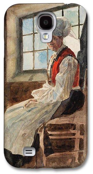 Scandinavian Peasant Woman In An Interior Galaxy S4 Case