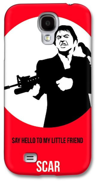 Scarface Poster 2 Galaxy S4 Case by Naxart Studio