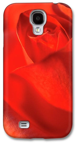 Scarlet Rose Abstract Galaxy S4 Case by Nigel Downer
