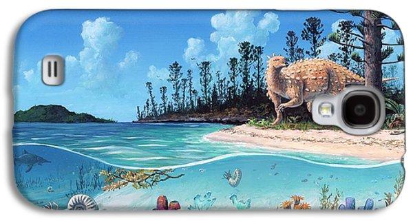 Scelidosaurus Dinosaur Galaxy S4 Case by Richard Bizley