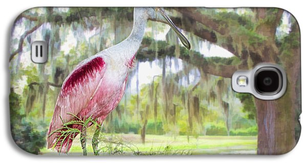 Spoonbill Galaxy S4 Case - Scene From The Deep South by Bonnie Barry