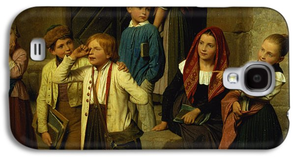 Schoolchildren Watching A Boy Cry Galaxy S4 Case by Friedrich Edouard Meyerheim