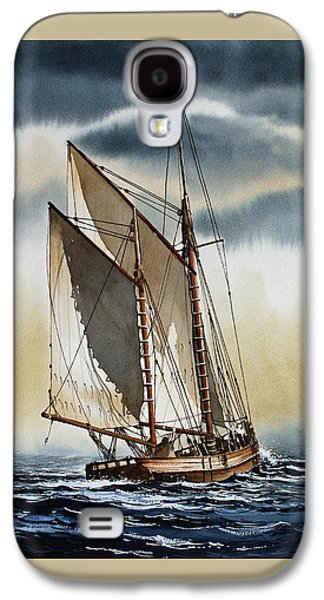 Schooner Galaxy S4 Case by James Williamson