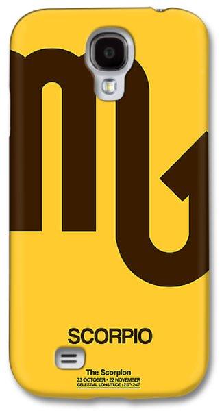 Scorpio Zodiac Sign Brown Galaxy S4 Case by Naxart Studio