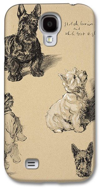 Scotch Terrier And White Westie Galaxy S4 Case