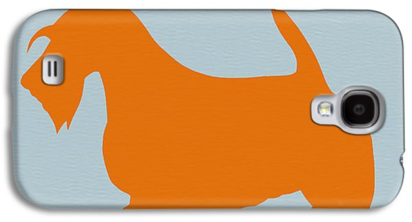 Scottish Terrier Orange Galaxy S4 Case