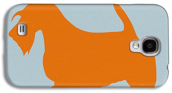 Dogs Galaxy S4 Case - Scottish Terrier Orange by Naxart Studio