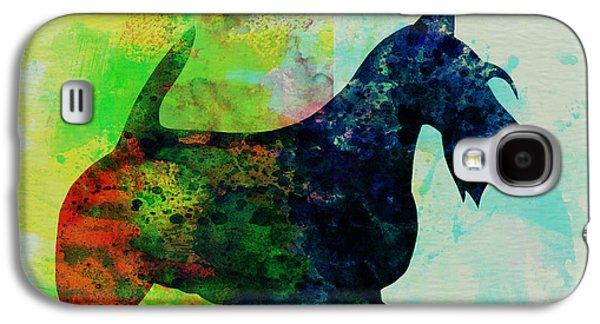 Scottish Terrier Watercolor Galaxy S4 Case by Naxart Studio