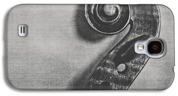 Violin Galaxy S4 Case - Scroll In Black And White by Emily Kay