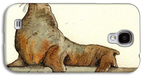 Sea Lion Galaxy S4 Case by Juan  Bosco