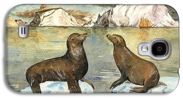 Sea Lions Galaxy S4 Case by Juan  Bosco