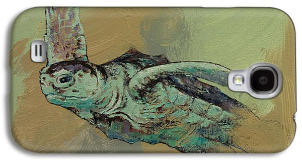 Sea Turtle Galaxy S4 Case by Michael Creese
