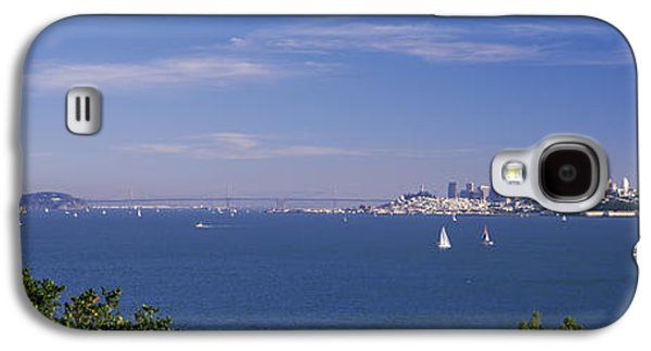 Sea With The Bay Bridge And Alcatraz Galaxy S4 Case by Panoramic Images