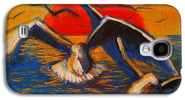 Seagulls At Sunset Galaxy S4 Case by Mona Edulesco
