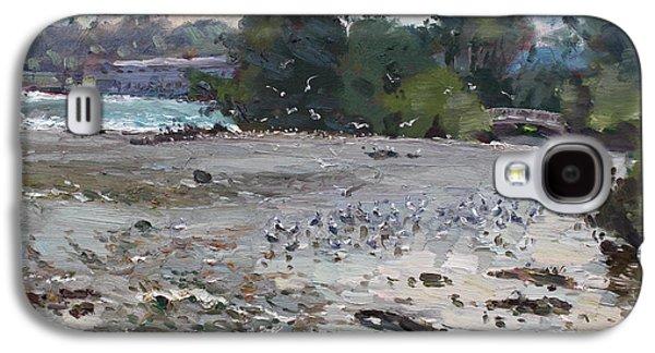 Seagull Galaxy S4 Case - Seagulls On Niagara River by Ylli Haruni