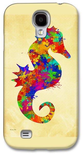 Seahorse Watercolor Art Galaxy S4 Case