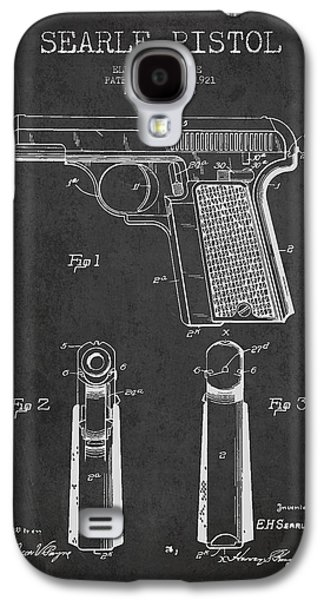Searle Pistol Patent Drawing From 1921 - Dark Galaxy S4 Case by Aged Pixel
