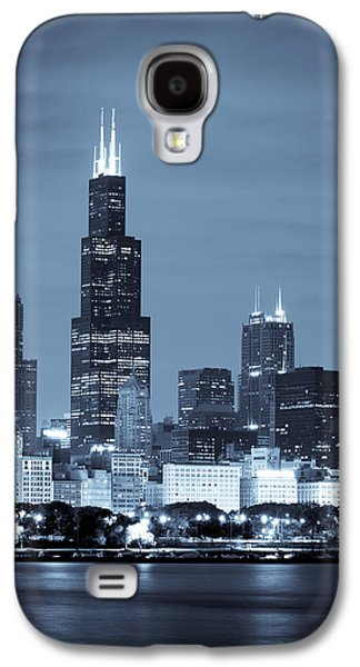Sears Tower In Blue Galaxy S4 Case by Sebastian Musial