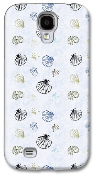 Seashell Pattern Galaxy S4 Case by Christina Rollo