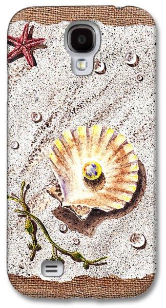 Seashell With The Pearl Sea Star And Seaweed  Galaxy S4 Case by Irina Sztukowski