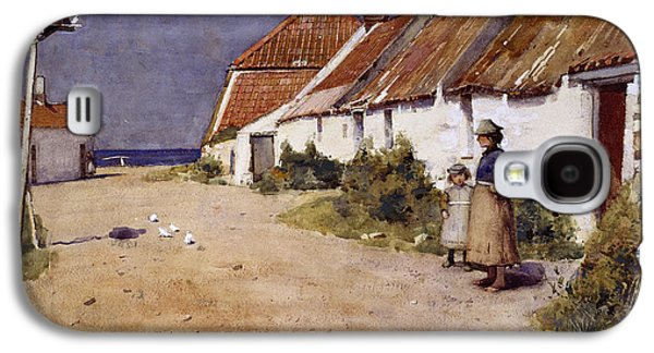 Seaside Cottages With Dovecot Galaxy S4 Case by Edward Arthur Walton
